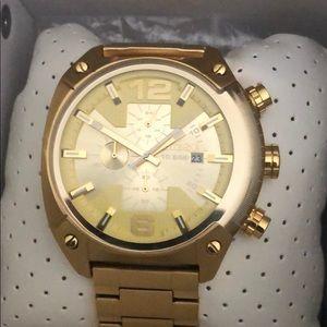 Gold diesel watch